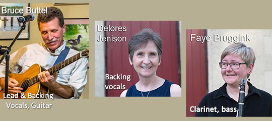 Bruce Buttel, Delores Jenison, and Faye Bruggink - Members of Common Chord